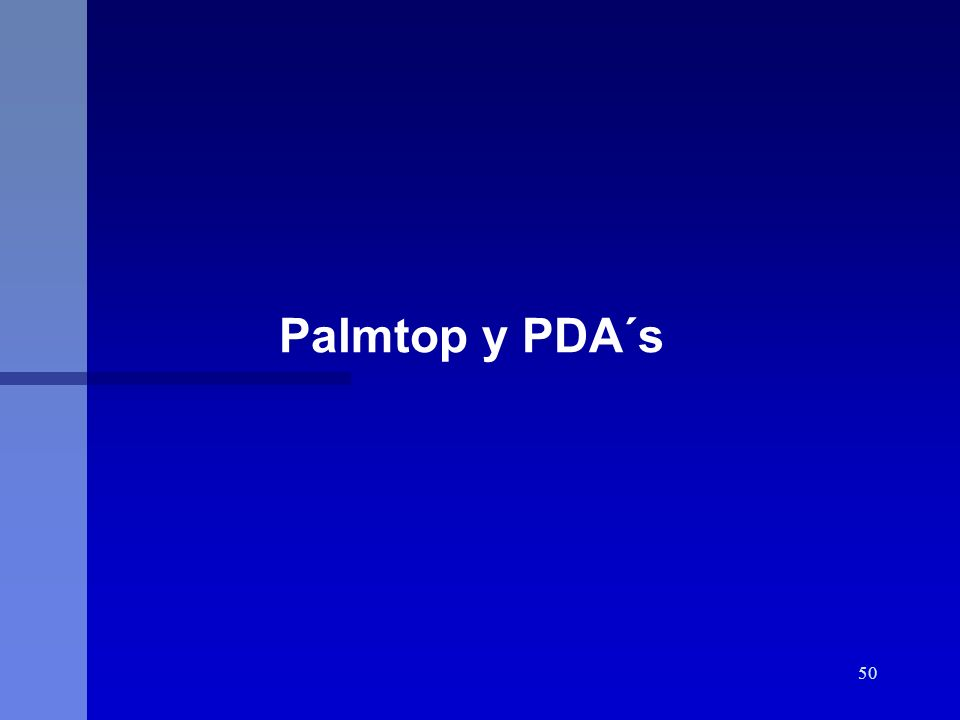 50 Palmtop y PDA´s