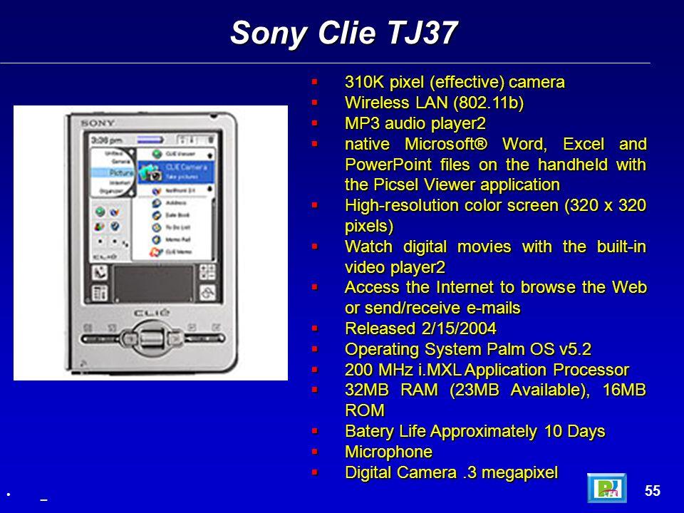 310K pixel (effective) camera 310K pixel (effective) camera Wireless LAN (802.11b) Wireless LAN (802.11b) MP3 audio player2 MP3 audio player2 native M