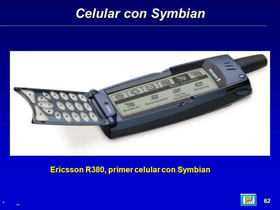 Celular con Symbian 62 _ Ericsson R380, primer celular con Symbian