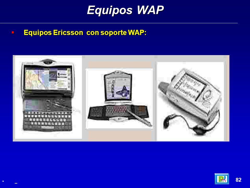 Equipos Ericsson con soporte WAP: Equipos Ericsson con soporte WAP: Equipos WAP 82 _
