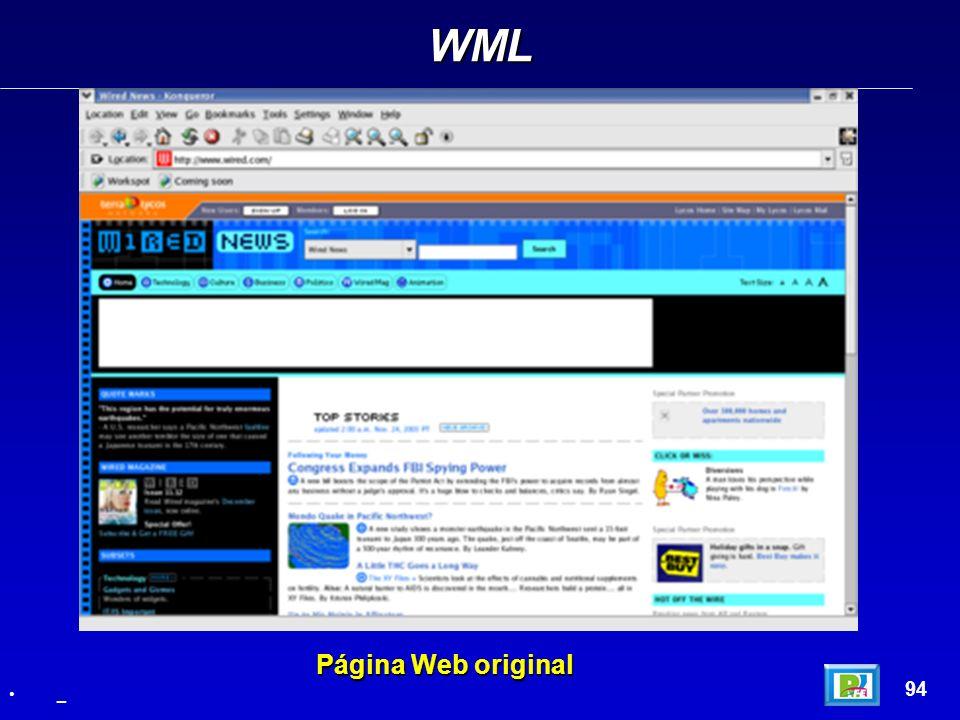 WML 94 _ Página Web original