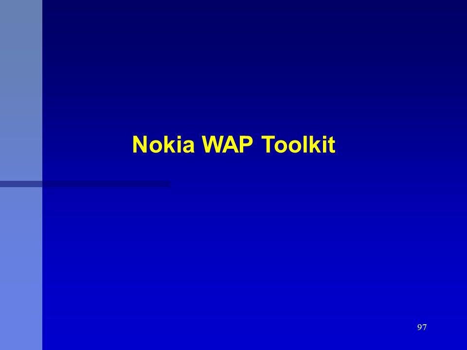 97 Nokia WAP Toolkit
