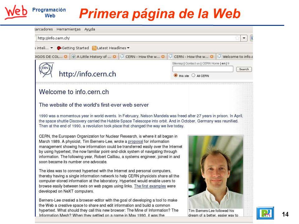 14 Programación Web Primera página de la Web