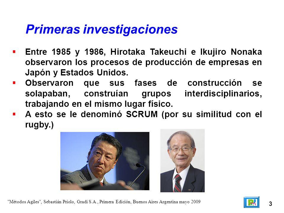 3 Entre 1985 y 1986, Hirotaka Takeuchi e Ikujiro Nonaka observaron los procesos de producción de empresas en Japón y Estados Unidos. Observaron que su