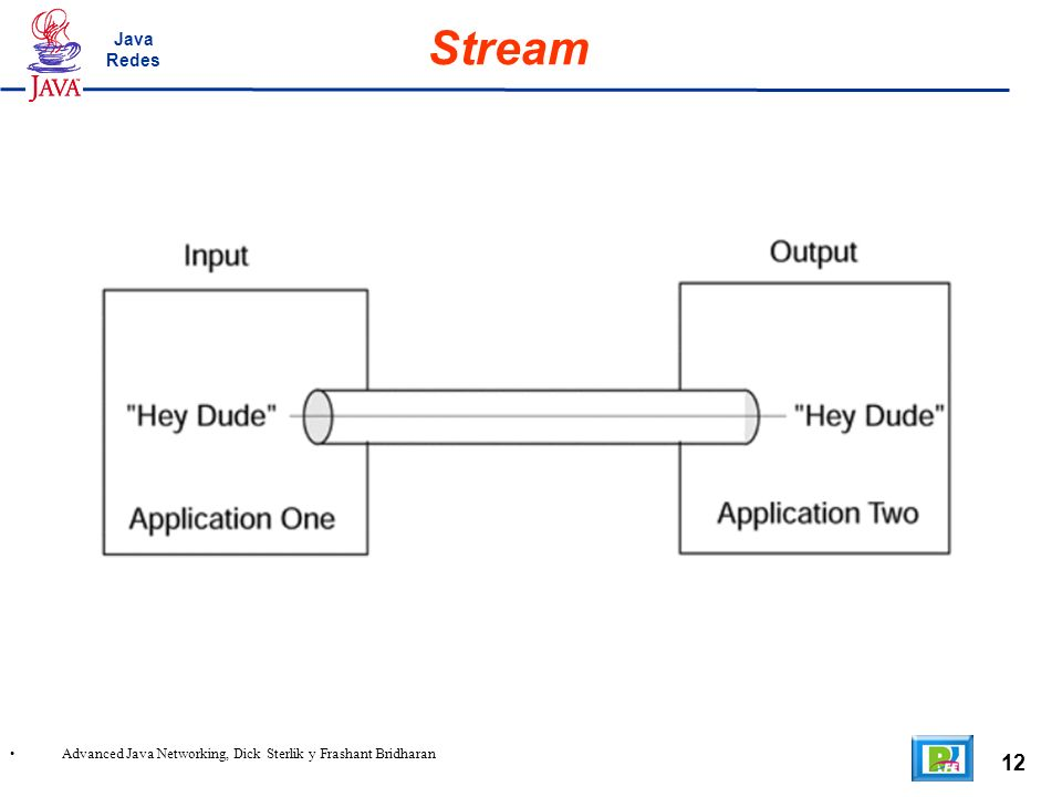 12 Advanced Java Networking, Dick Sterlik y Frashant Bridharan Stream Java Redes