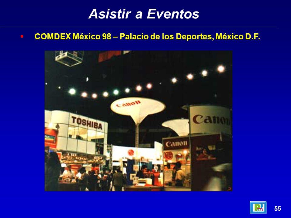 Asistir a Eventos 54 COMDEX México 98 – Palacio de los Deportes, México D.F.