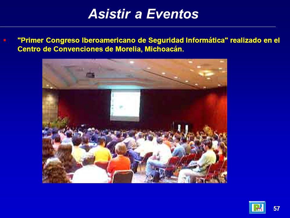 Asistir a Eventos 56 ) ITESM Ciudad de México, marzo 1998 4WCES (4 World Congress on Expert Systems) ITESM Ciudad de México, marzo 1998