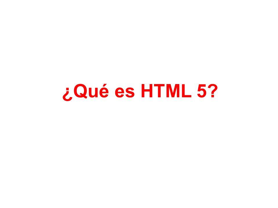 ¿Qué es HTML 5?