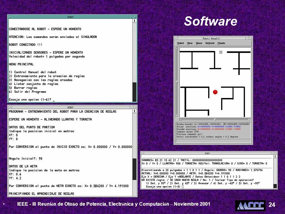 Software IEEE - III Reuni ó n de Oto ñ o de Potencia, Electr ó nica y Computaci ó n – Noviembre 2001 24