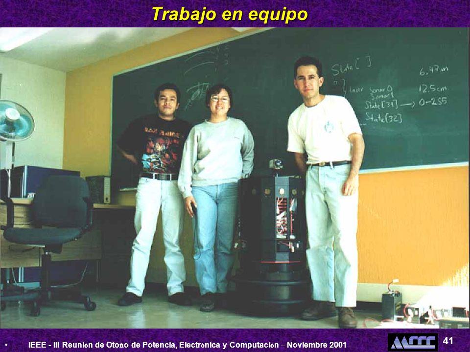 IEEE - III Reuni ó n de Oto ñ o de Potencia, Electr ó nica y Computaci ó n – Noviembre 2001 41 Trabajo en equipo