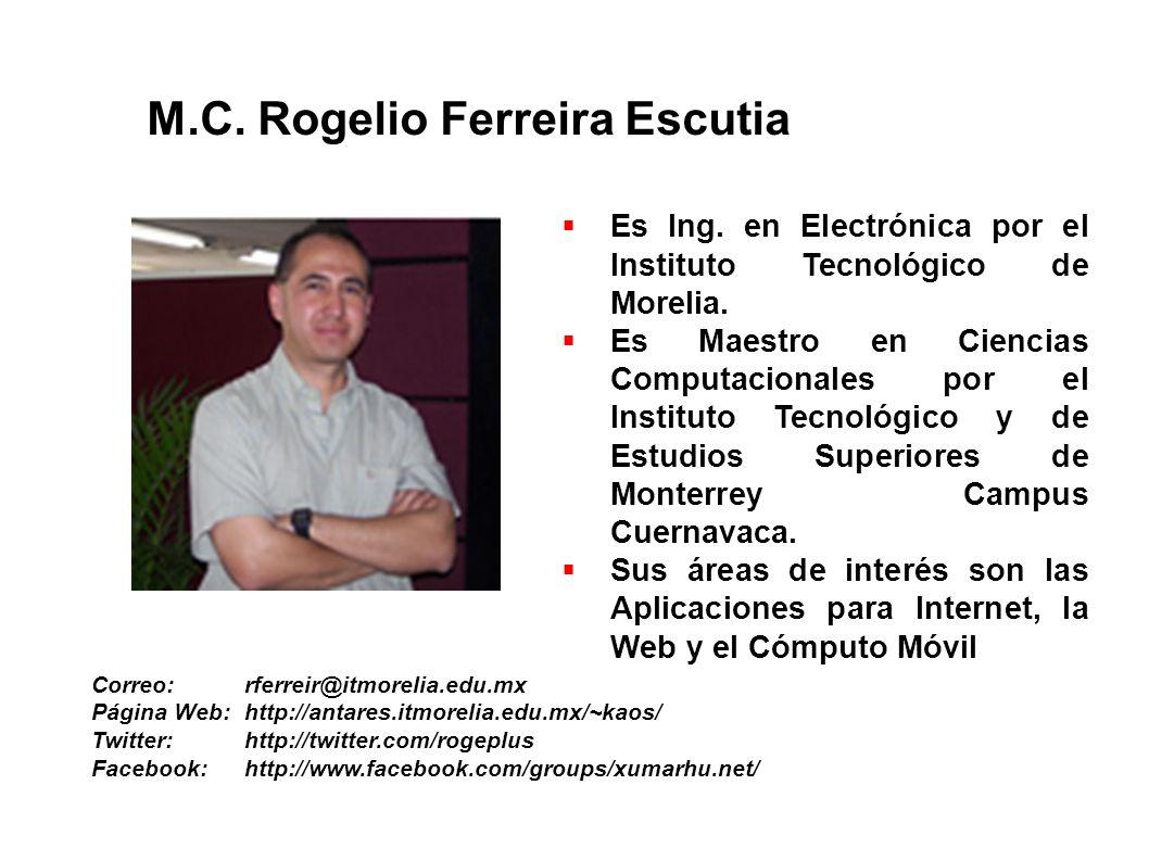Es Ing. en Electrónica por el Instituto Tecnológico de Morelia. Es Maestro en Ciencias Computacionales por el Instituto Tecnológico y de Estudios Supe