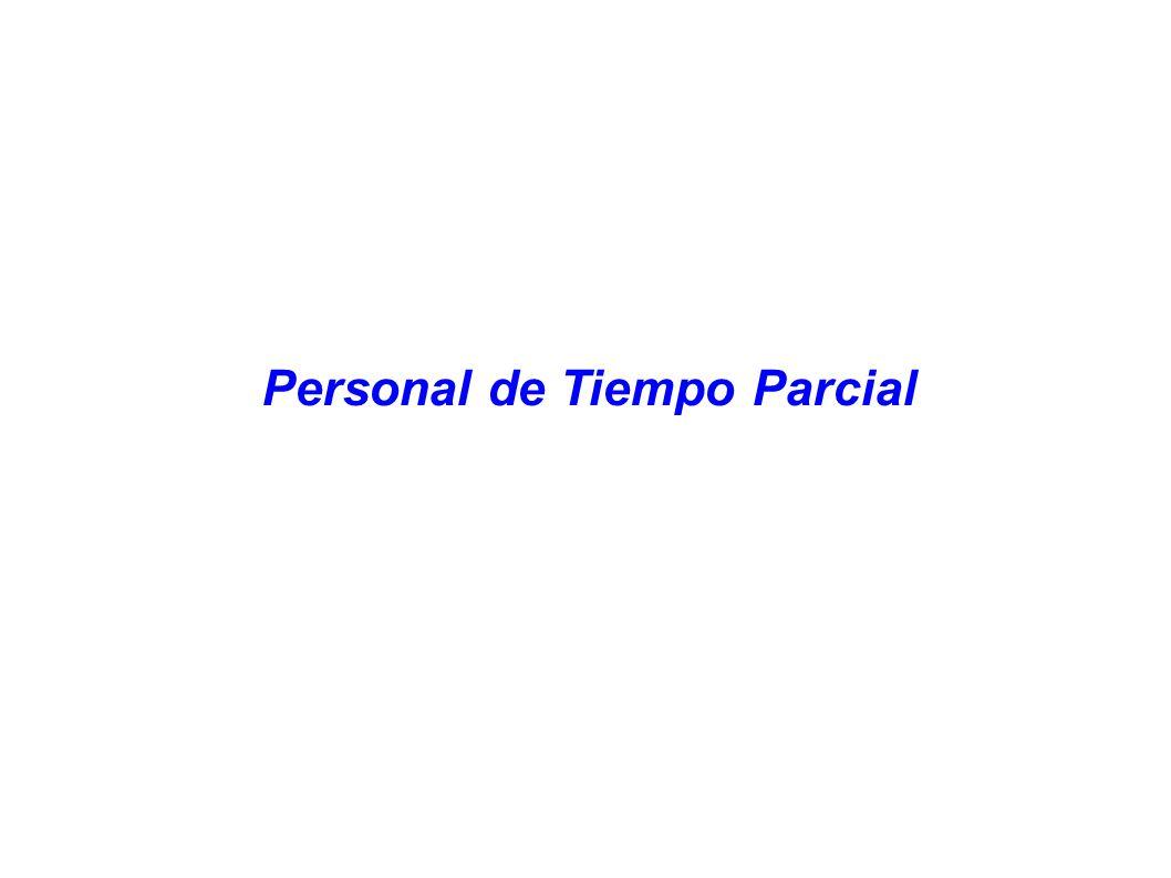 Personal de Tiempo Parcial