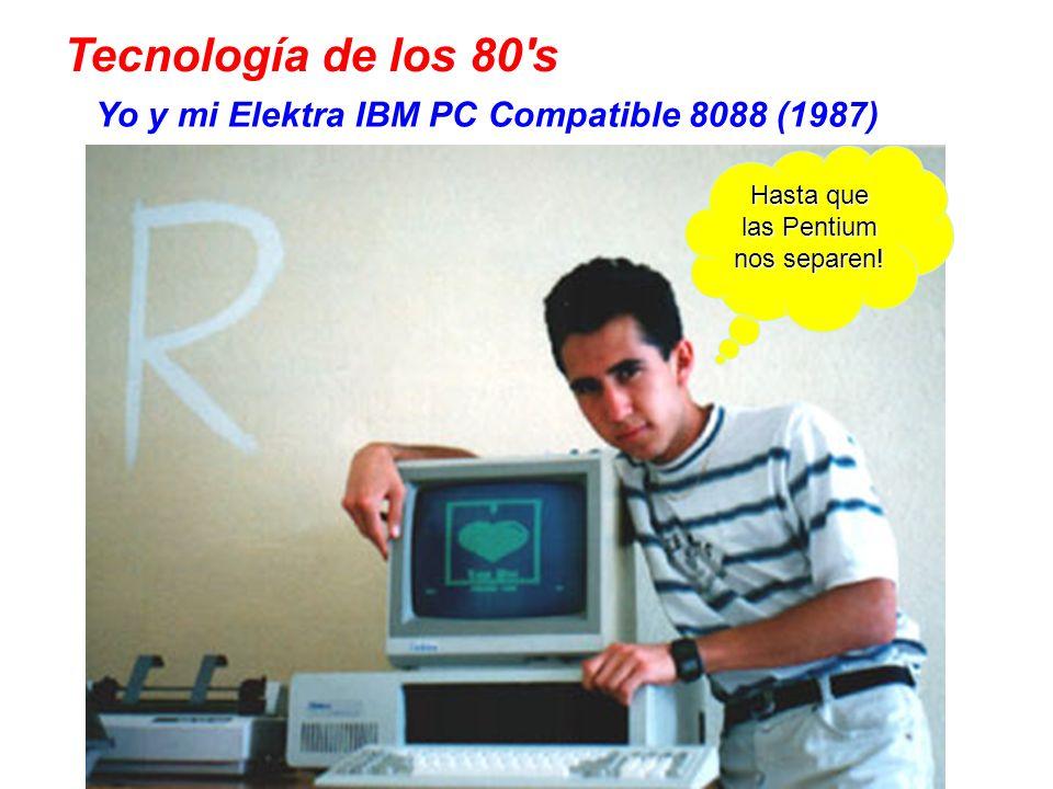 Yo y mi Elektra IBM PC Compatible 8088 (1987) Hasta que las Pentium nos separen.