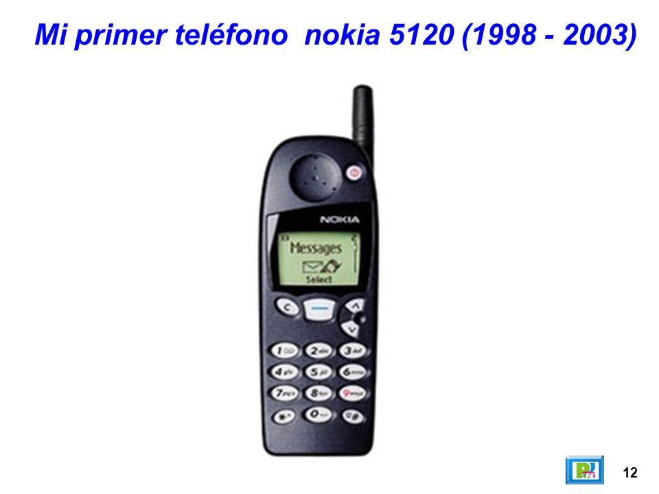 12 Mi primer teléfono nokia 5120 (1998 - 2003)