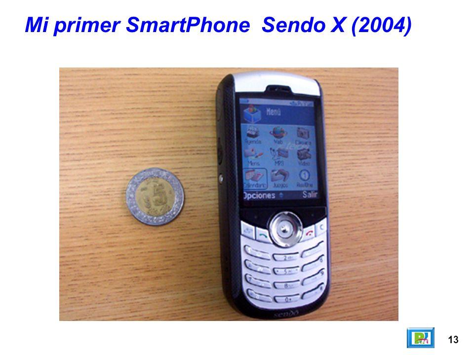13 Mi primer SmartPhone Sendo X (2004)