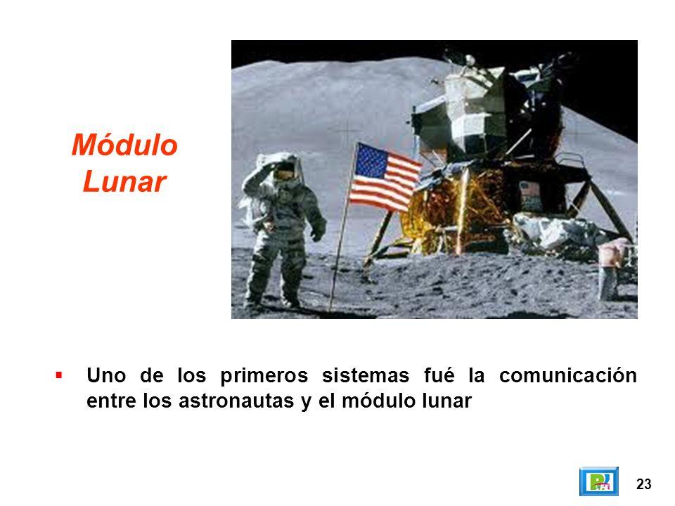 23 Módulo Lunar Uno de los primeros sistemas fué la comunicación entre los astronautas y el módulo lunar