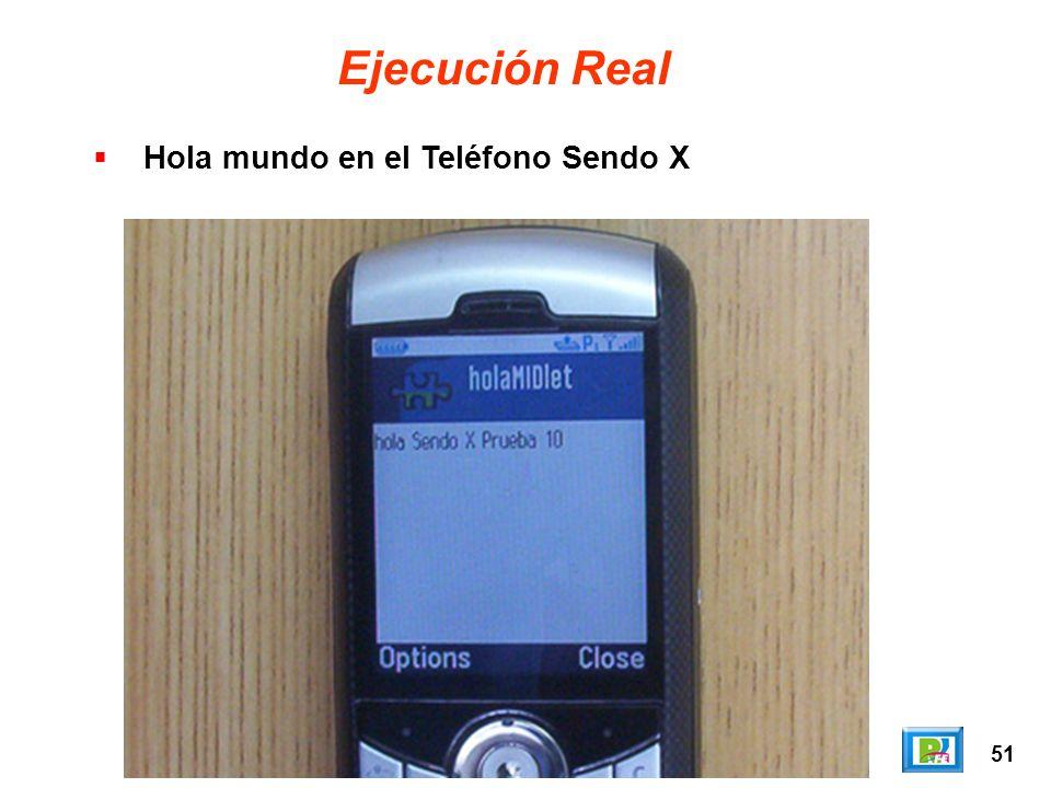 51 Ejecución Real Hola mundo en el Teléfono Sendo X