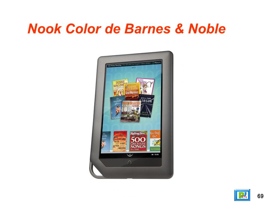 69 Nook Color de Barnes & Noble