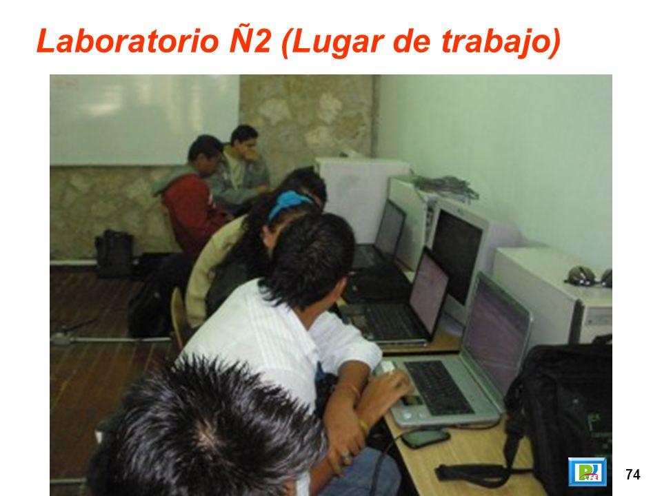 74 Laboratorio Ñ2 (Lugar de trabajo)