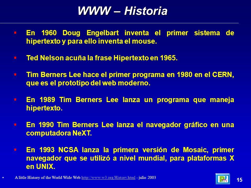 En 1960 Doug Engelbart inventa el primer sistema de hipertexto y para ello inventa el mouse.