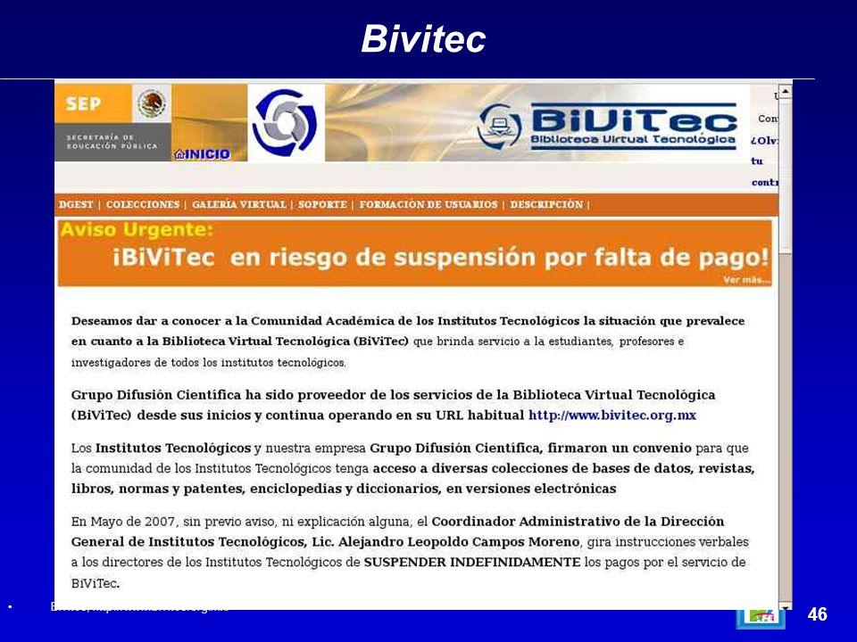 Bivitec 46 Bivitec, http://www.bivitec.org.mx/