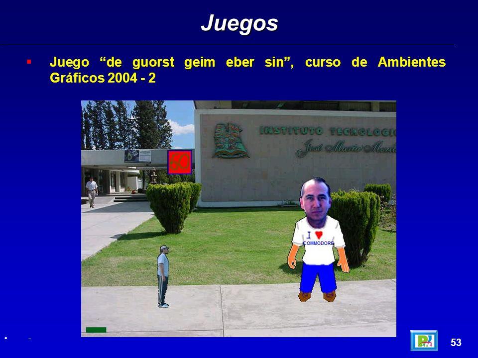de guorst geim eber sin Juego de guorst geim eber sin, curso de Ambientes Gráficos 2004 - 2 Juegos 53 -