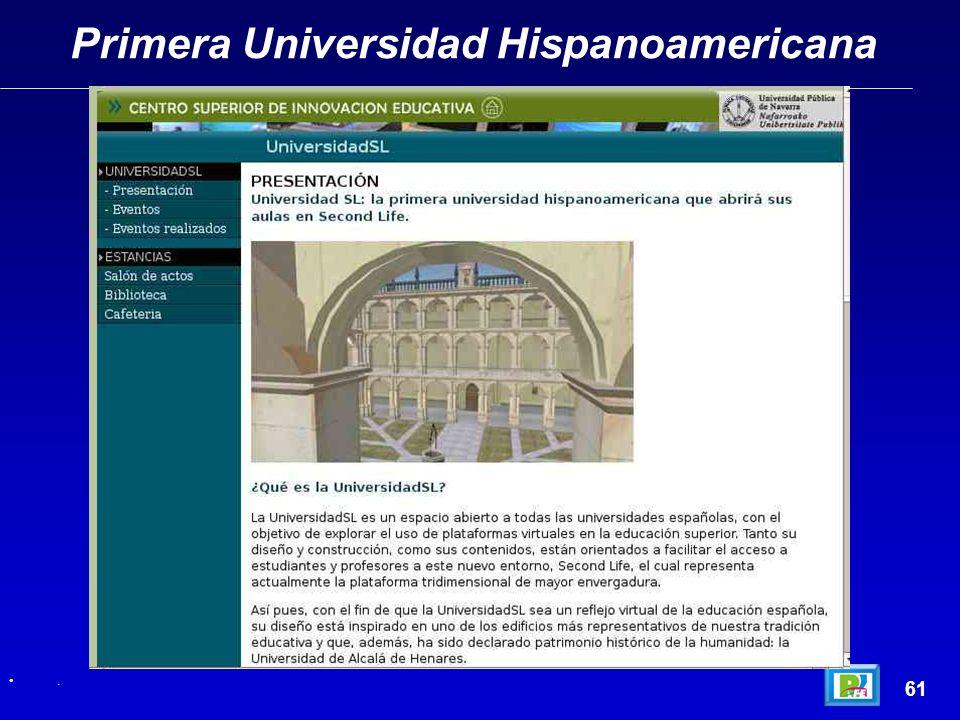 Primera Universidad Hispanoamericana 61.
