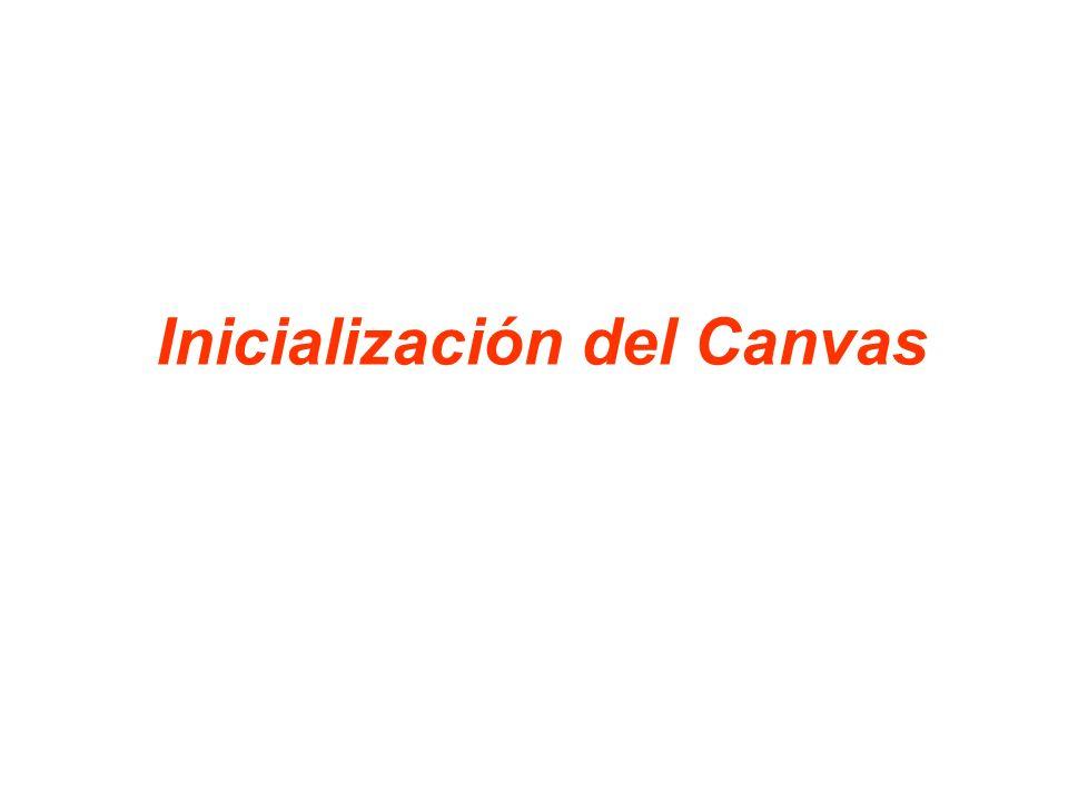 Inicialización del Canvas