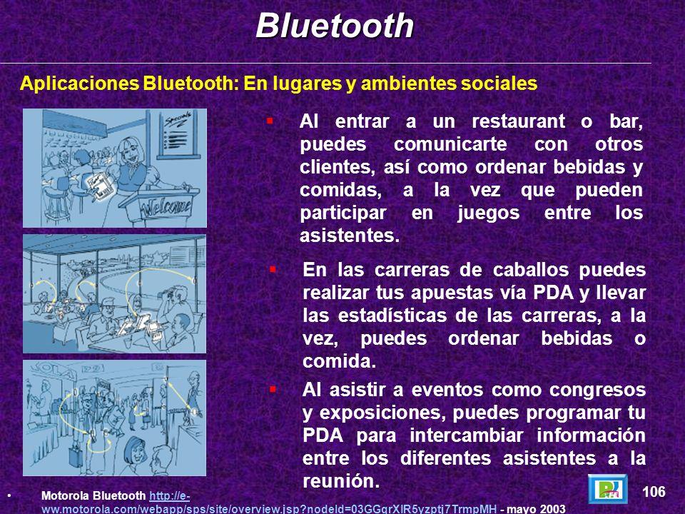 Aplicaciones Bluetooth: En el autoBluetooth 105 Motorola Bluetooth http://e- ww.motorola.com/webapp/sps/site/overview.jsp?nodeId=03GGqrXlR5yzptj7TrmpM