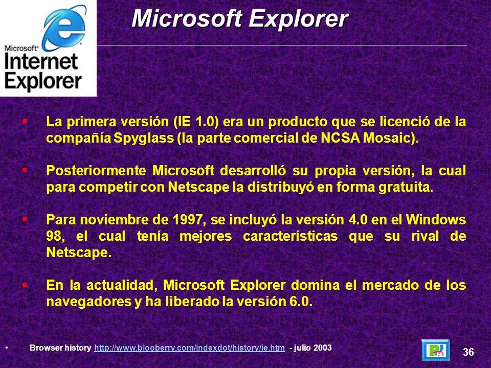 Marc Adreesen (creador de Mosaic) y Jim Clark (creador de Silicon Graphics) fundan en abril de 1994 la compañía Netscape (originalmente se denominaba