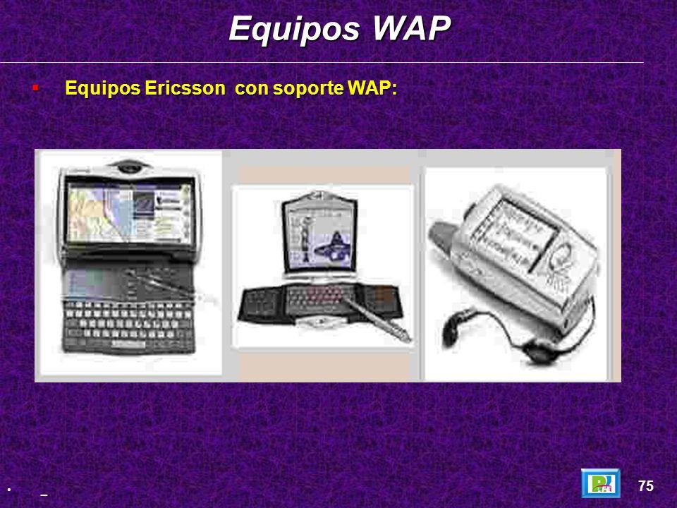 Equipos Sony con soporte WAP: Equipos Sony con soporte WAP: Equipos WAP 74 _