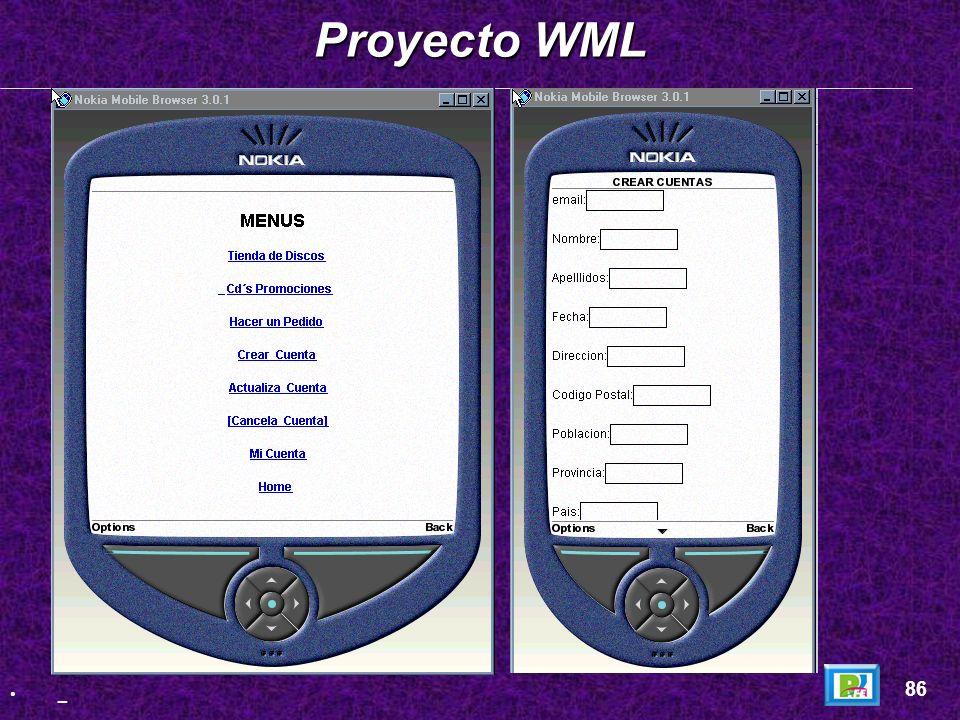 Página WML: Página WML: Proyecto WML 85 _
