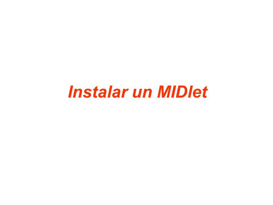 Instalar un MIDlet