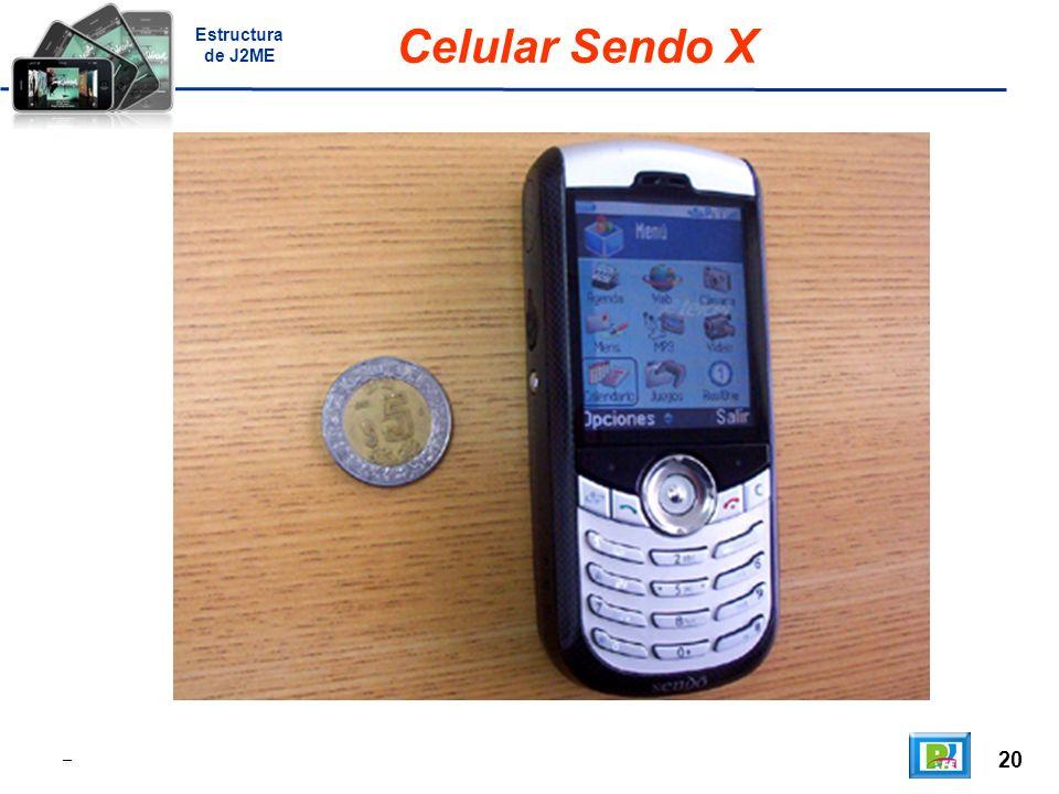 20 _ Celular Sendo X Estructura de J2ME