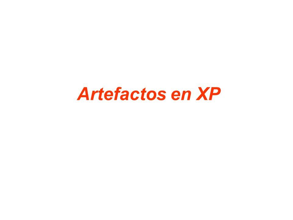 Artefactos en XP