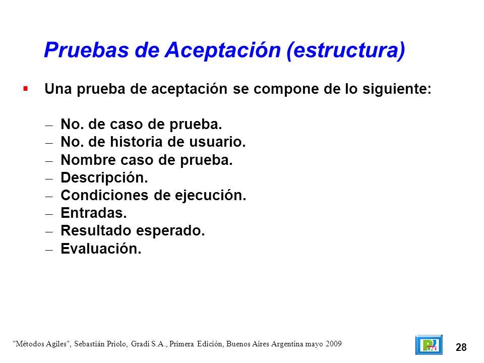 28 Pruebas de Aceptación (estructura)
