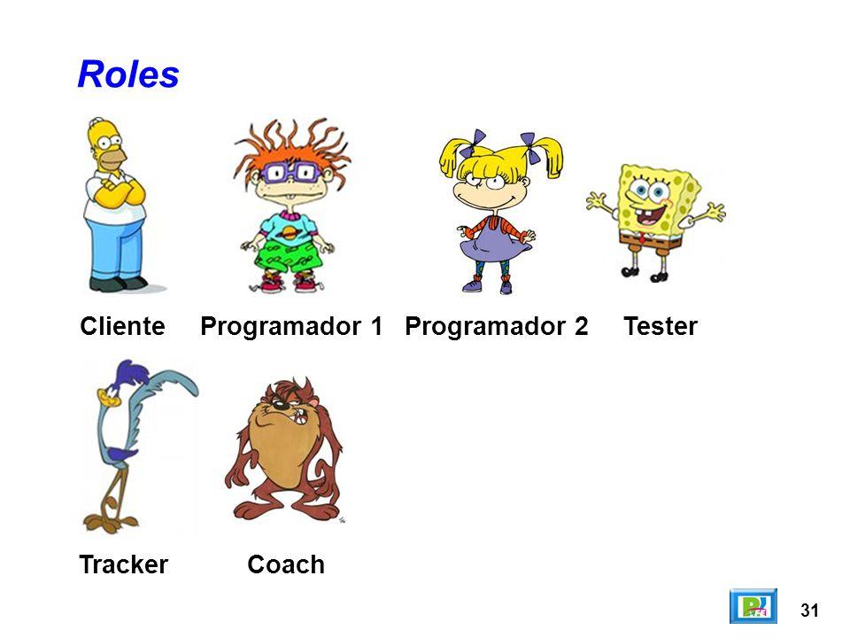31 Cliente Roles Programador 1TesterProgramador 2 TrackerCoach