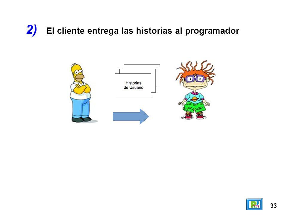 33 El cliente entrega las historias al programador 2)