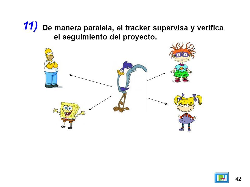 42 De manera paralela, el tracker supervisa y verifica el seguimiento del proyecto. 11)