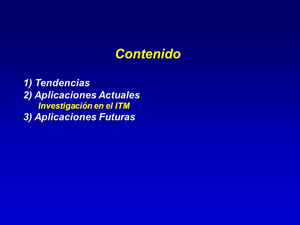 Contenido 1) Tendencias 2) Aplicaciones Actuales Investigación en el ITM 3) Aplicaciones Futuras