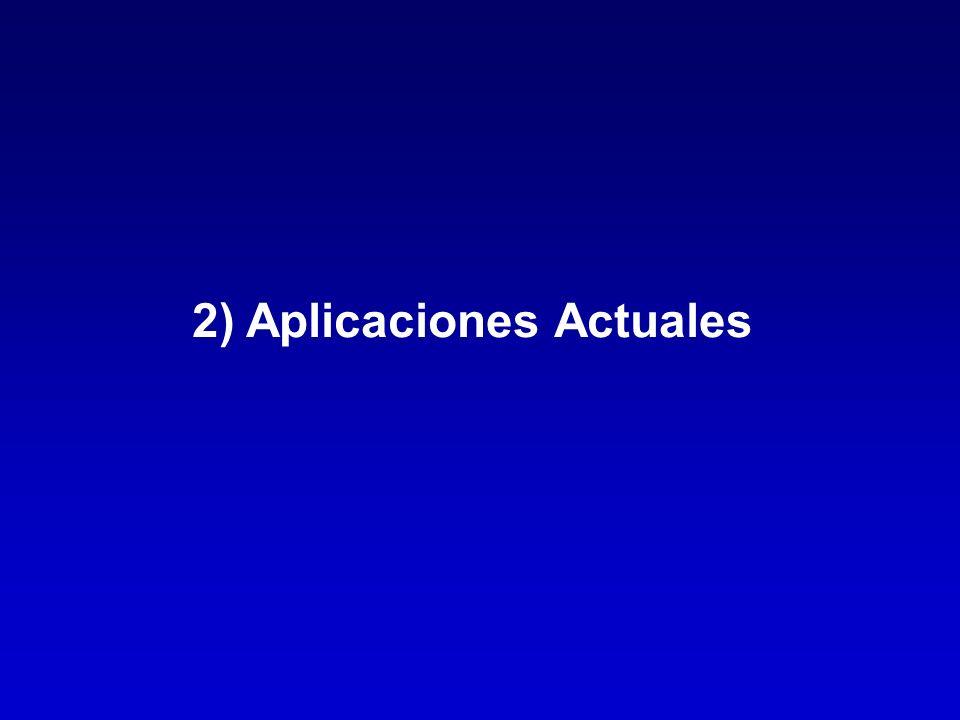 2) Aplicaciones Actuales