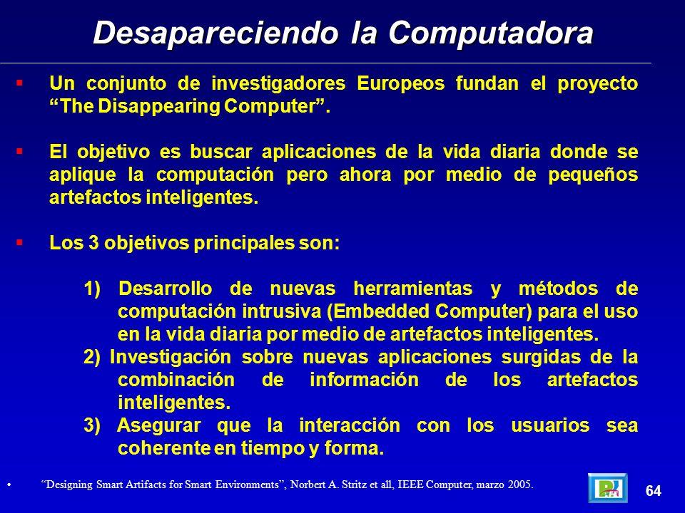 Un conjunto de investigadores Europeos fundan el proyecto The Disappearing Computer.