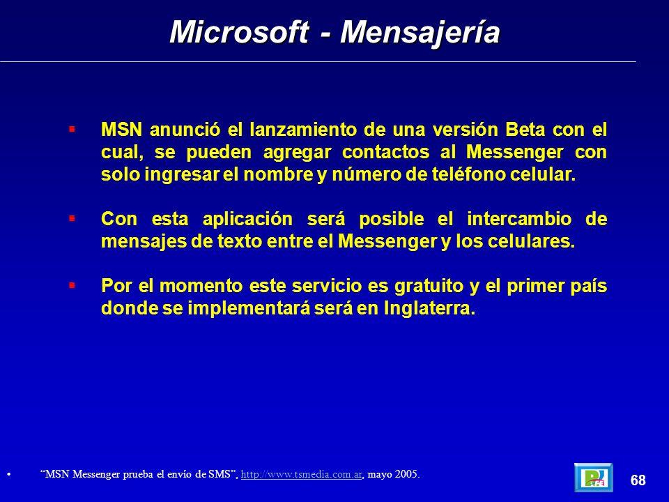 MSN anunció el lanzamiento de una versión Beta con el cual, se pueden agregar contactos al Messenger con solo ingresar el nombre y número de teléfono celular.