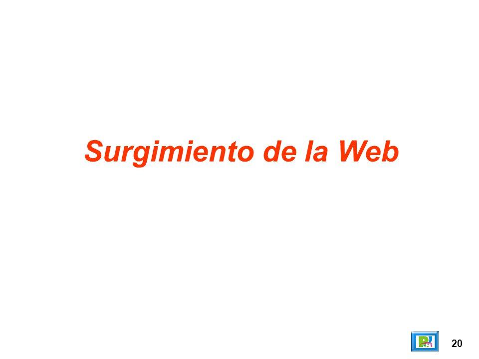 Surgimiento de la Web 20