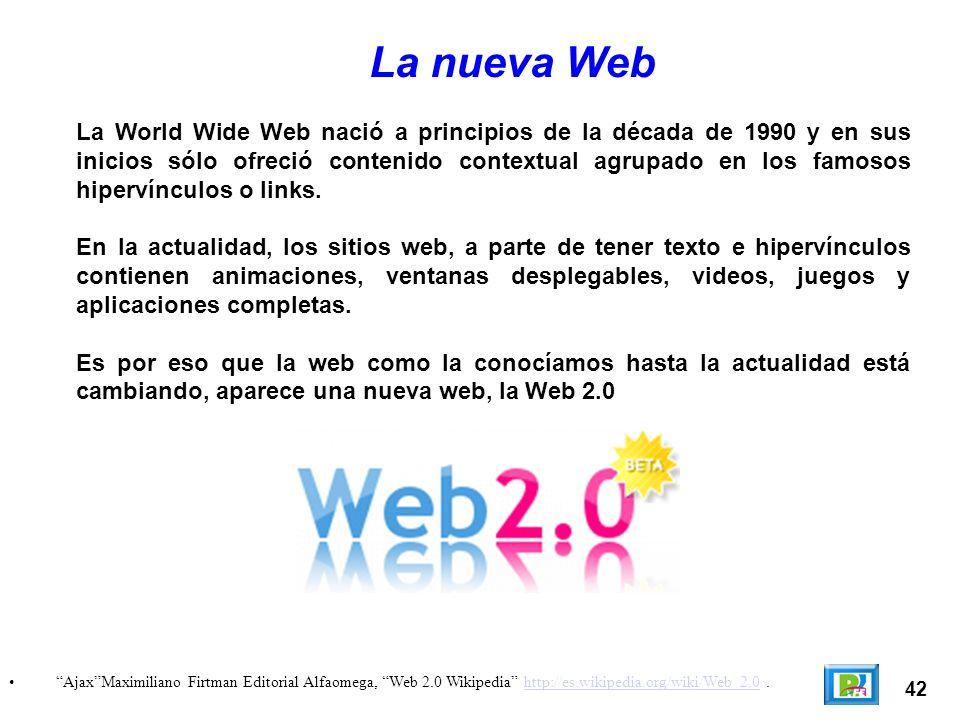 La World Wide Web nació a principios de la década de 1990 y en sus inicios sólo ofreció contenido contextual agrupado en los famosos hipervínculos o l