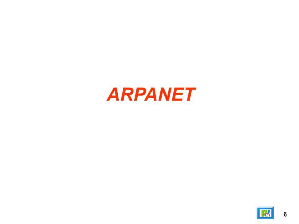 7 La red de computadoras Advanced Research Projects Agency Network (ARPANET) fue creada por encargo del Departamento de Defensa de los Estados Unidos ( DOD por sus siglas en inglés) como medio de comunicación para los diferentes organismos del país.