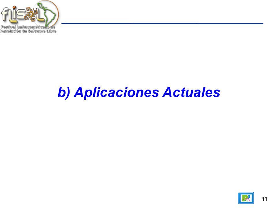 11 b) Aplicaciones Actuales