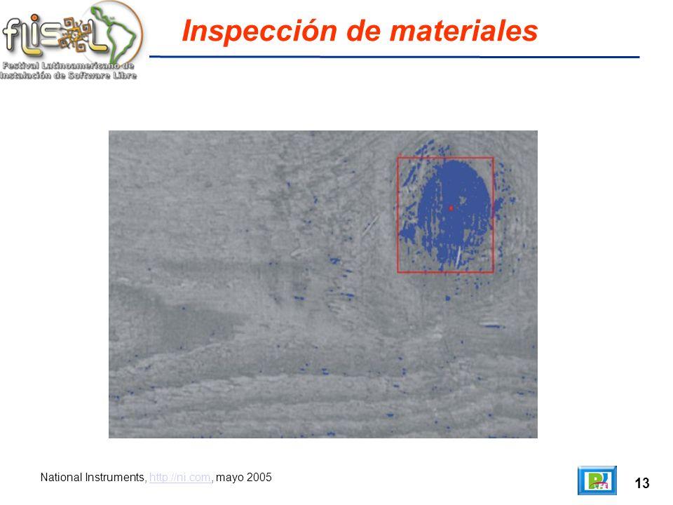 13 Inspección de materiales National Instruments, http://ni.com, mayo 2005http://ni.com