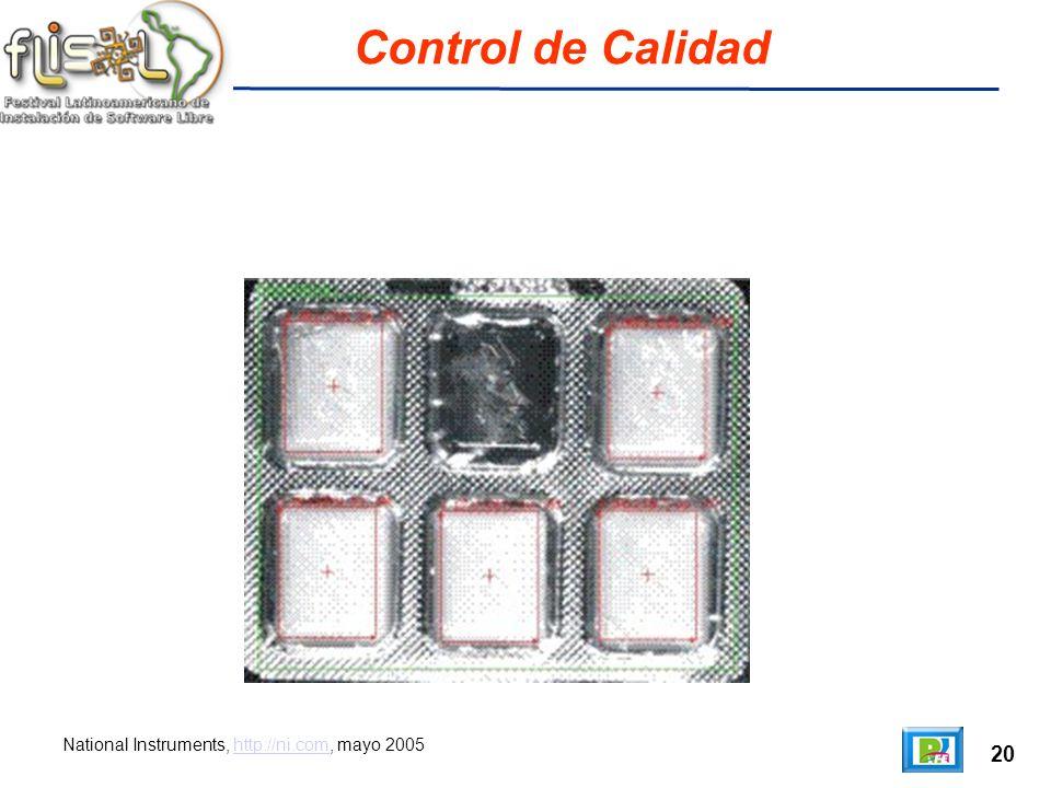 20 Control de Calidad National Instruments, http://ni.com, mayo 2005http://ni.com