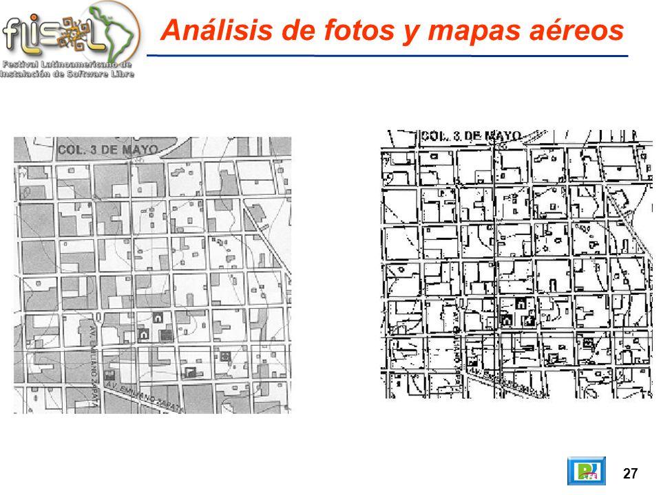 27 Análisis de fotos y mapas aéreos